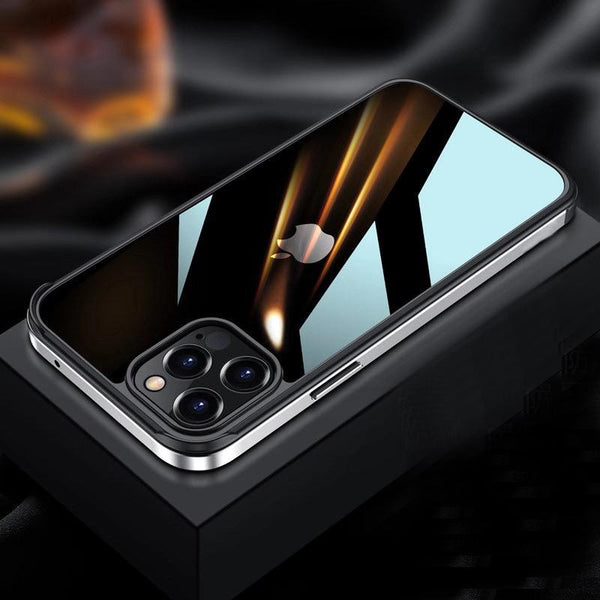 iPhone 12 Pro Max Luxury Square Metal Frame Case