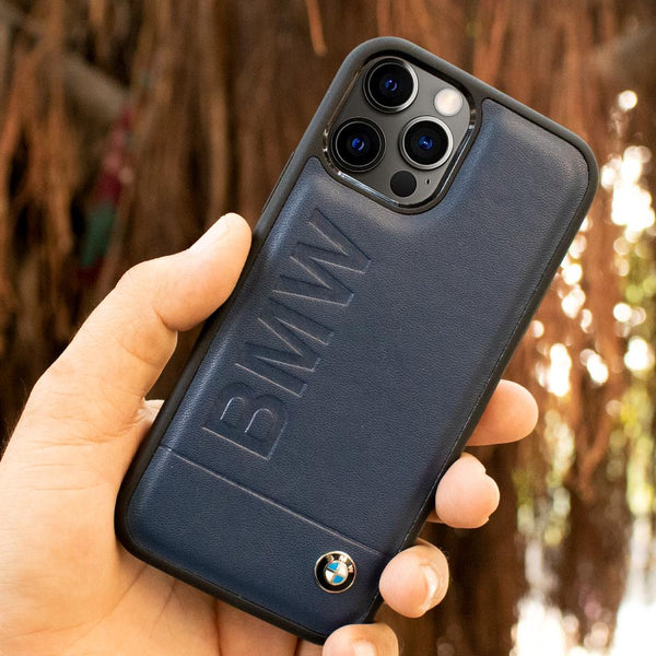 BMW iPhone 12 Pro Max Genuine Leather Texture Case