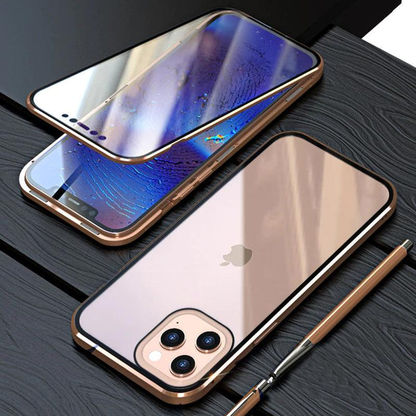 iPhone 12 Pro Electronic Auto-Fit (Front+ Back) Glass Magnetic Case