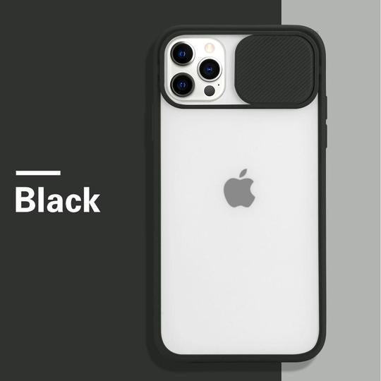iPhone 12 Series Camera Lens Slide Protection Matte Case