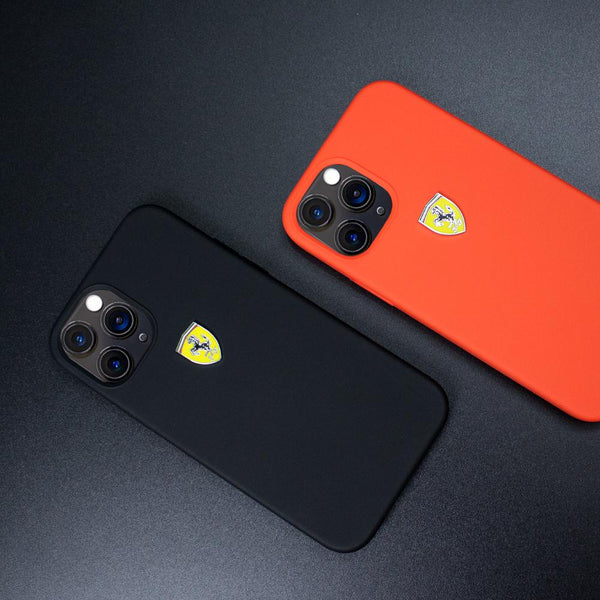 Ferrari iPhone 12 Pro Max Rigid Smooth Sleek Silicone Case