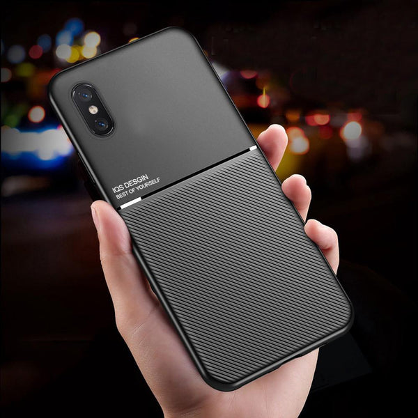 iPhone XS Max Carbon Fiber Twill Pattern Soft TPU Case
