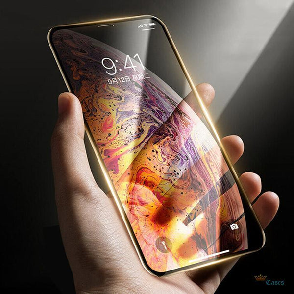 iPhone XS Max Full Coverage Curved Tempered Glass