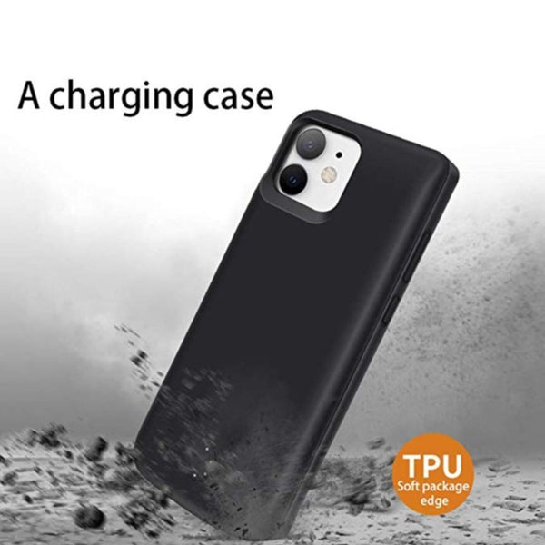 iPhone 11 Series (3 in 1 Combo) Battery Shell Case + Tempered Glass + Camera Lens Guard