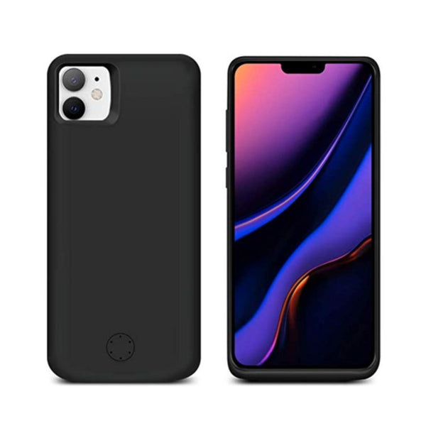 iPhone 11 Pro Max (3 in 1 Combo) 6000 mAh Battery Shell Case + Tempered Glass + Camera Lens Guard