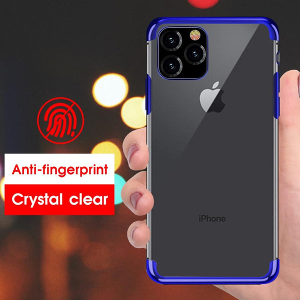 iPhone 11 Pro Electroplating Silicone Transparent Glitter Case
