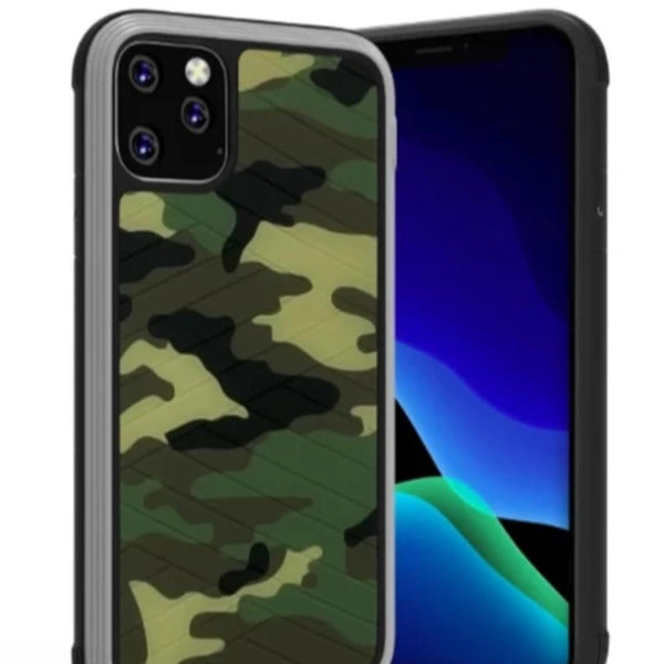MK ® iPhone 11 Pro Max Raigor Inverse Army Pattern Shockproof Protective Case