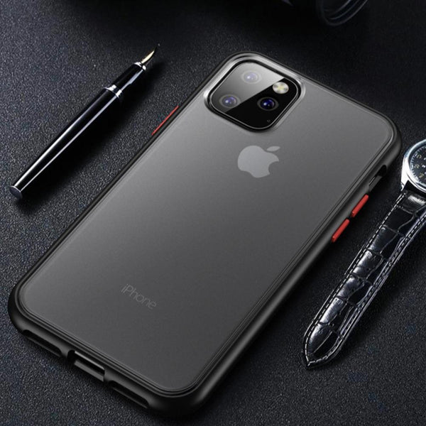 iPhone Series Matte Silicone Shockproof Armor Case