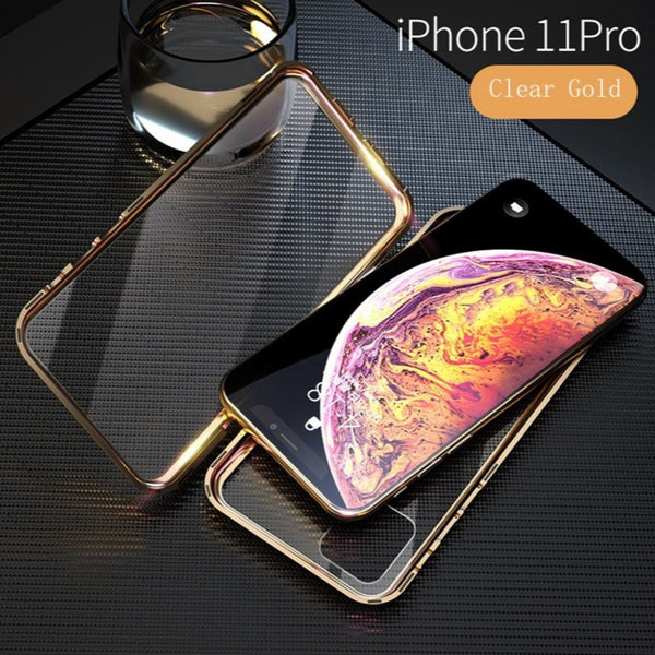 iPhone 11 Pro Electronic Auto-Fit (Front+ Back) Glass Magnetic Case