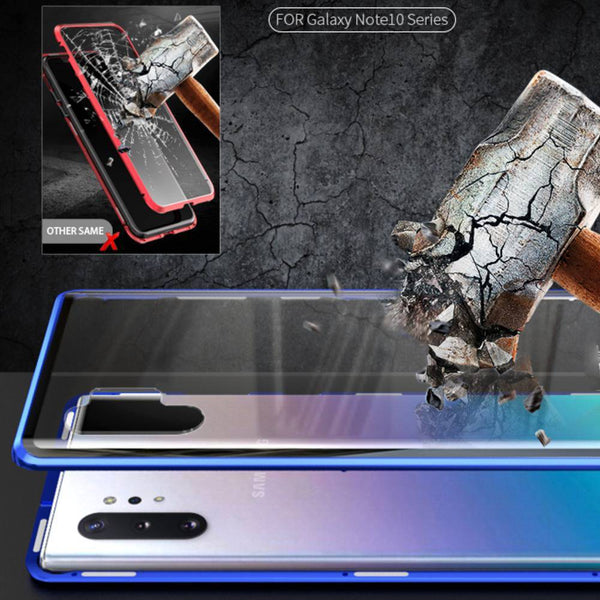 Galaxy Note 10 Plus Electronic Auto-Fit Magnetic Glass Case