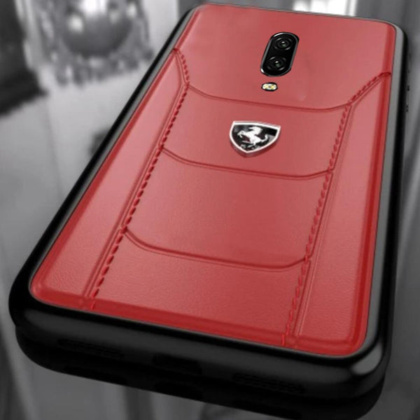Ferrari ® Oneplus 7 Pro Genuine Leather Crafted Limited Edition Case
