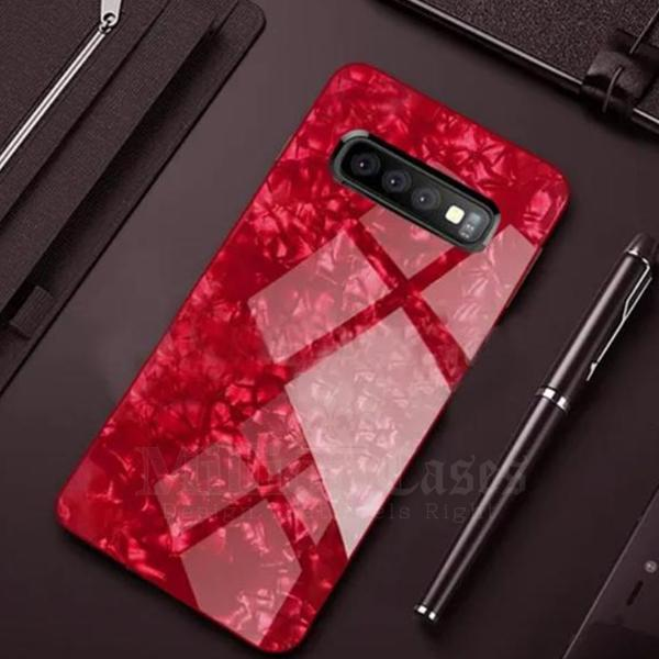 Galaxy S10 Plus Dream Shell Textured Marble Case
