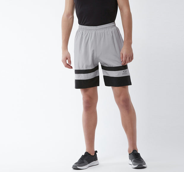 Light Grey & Black - Men Shorts