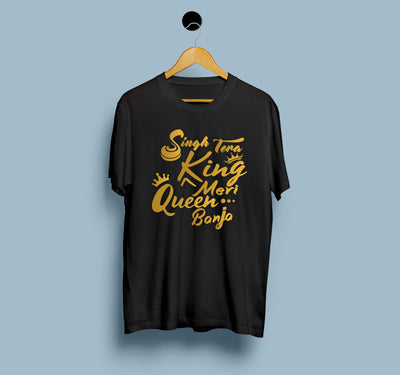 Singh Tera King Meri Queen Banja - Men T-Shirt
