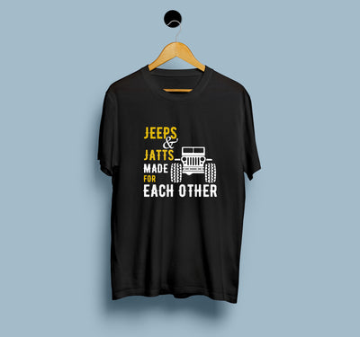 Jeeps and Jatts Men T-Shirt