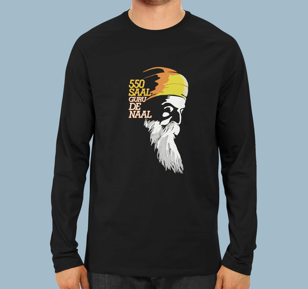 550 Saal Guru Nanak De Naal - Men Full Sleeves T-shirt