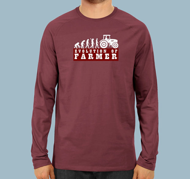 Evolution Of Farmer - Men Full Sleeve T-shirt