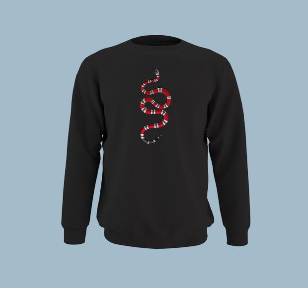 Gucci Snake Sticker- Men Sweatshirt