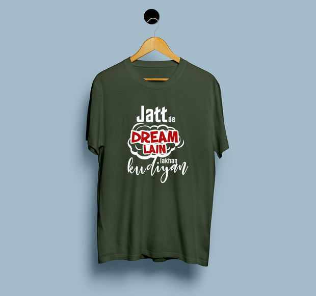 Jatt De Dream Lain Lakhan Kudiyan - Men T-Shirt