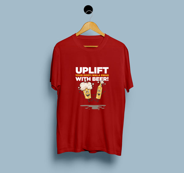 UPLIFT Your Dosti Wala Swag With Beer - Women T-Shirt