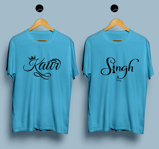 Couple T-shirts - Singh & Kaur