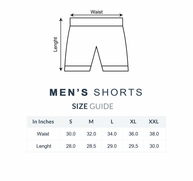 Royal Blue-Black Pattern - Men Shorts