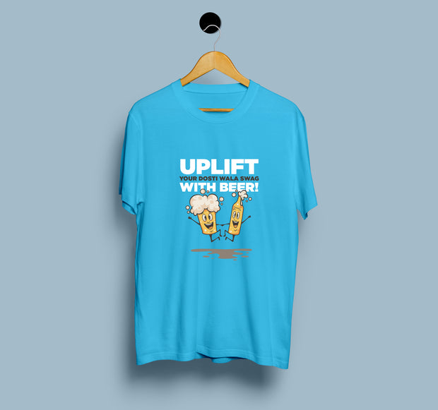 UPLIFT Your Dosti Wala Swag With Beer - Men T-Shirt