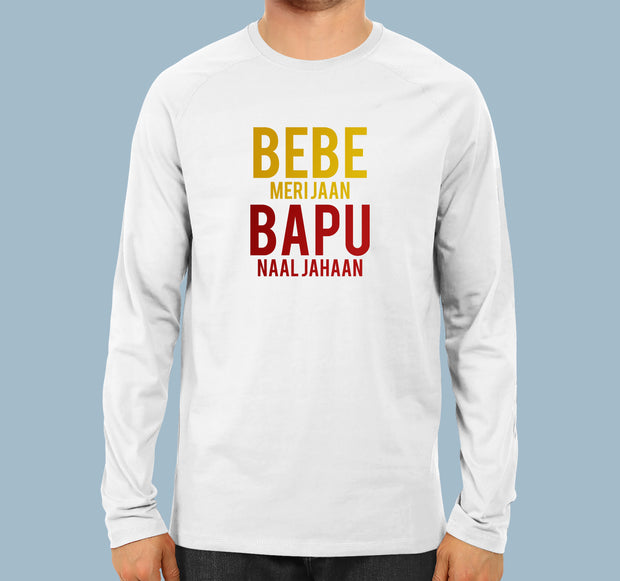 Bebe & Bapu - Men Full Sleeves T-shirt
