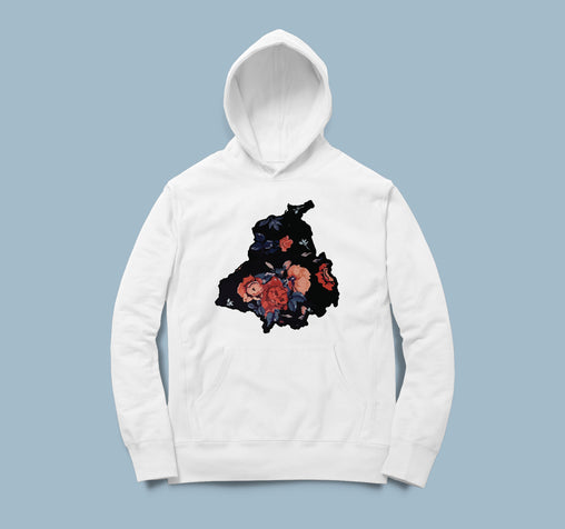 Punjab Map Flowers - Men Hoodie