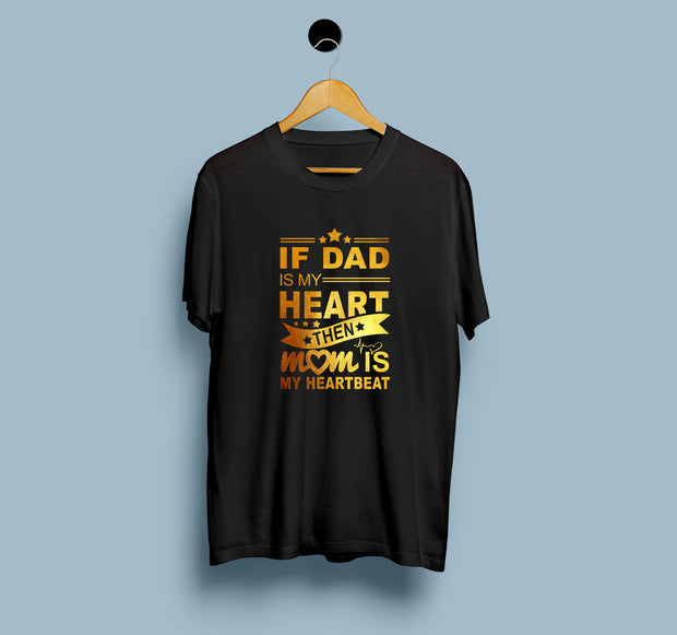 Dad Heart Then Mom Heart Beat - Women T-shirt