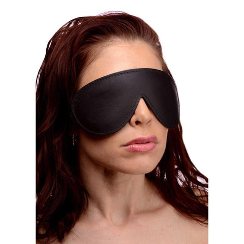 Padded Leather Blindfold by Strict Leather