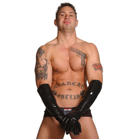Mens Large Elbow Length Latex Gloves