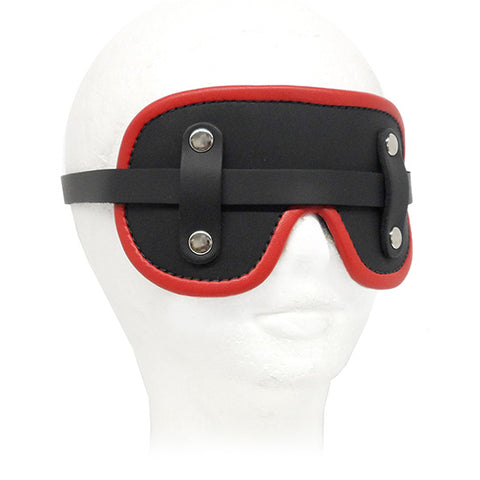 The Upper Floor Fur Lined Leather Blindfold