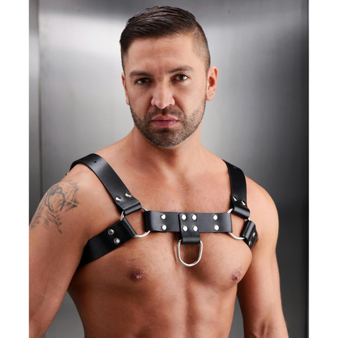 English Bull Dog Leather Chest Harness