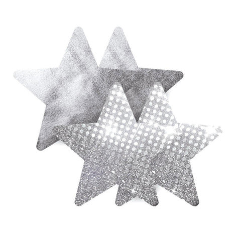 Bristols 6 Nippies - Light Silver Star Pasties