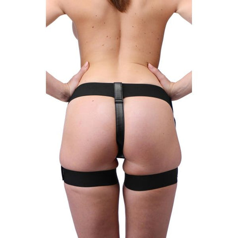 Bardot Garter Belt Strap On Harness with Silicone Dildo