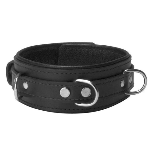 Premium Leather Cuffs and Collar Bondage Essentials Kit - Black