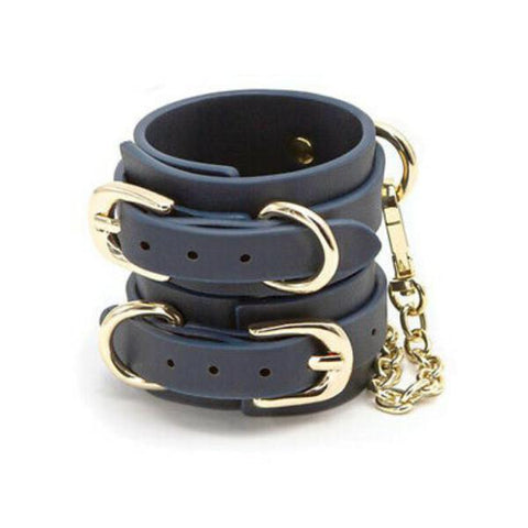 Bondage Couture Ankle Cuffs - Blue
