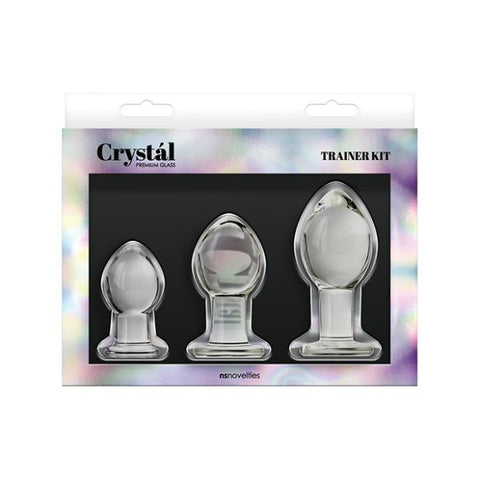 Crystal Glass Anal Plug Trainer Kit