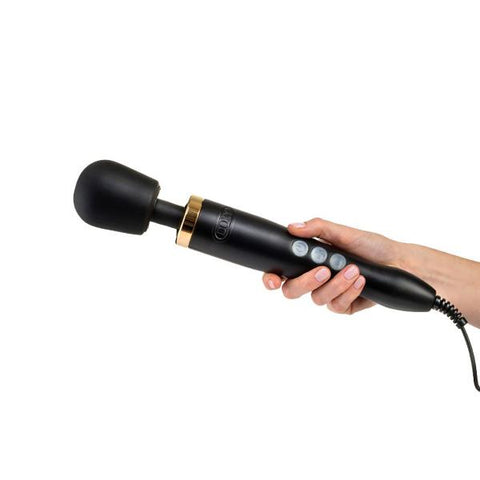 Doxy Die Cast 3 Wand Massager - Matte Black with Gold Accents