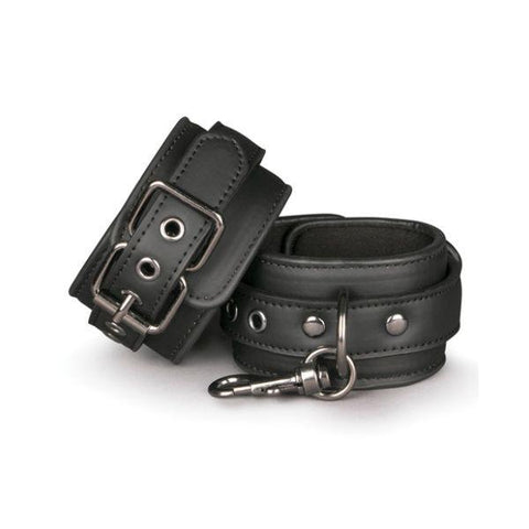 Easy Toys PU Leather Wrist Cuffs with Metal Clips