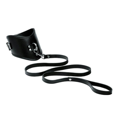 Isabella Sinclaire Leather Posture Collar with Leash