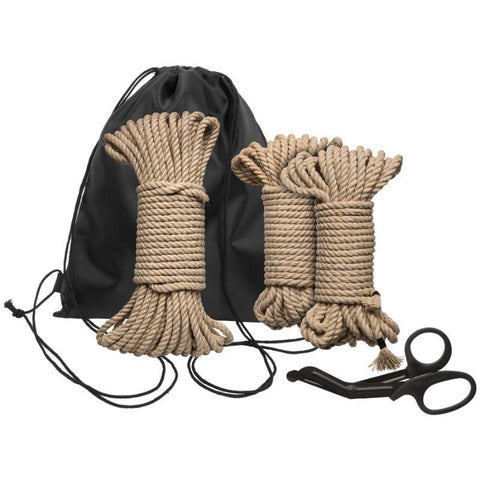 Kink by Doc Johnson Bind and Tie Initiation Hemp Rope Kit