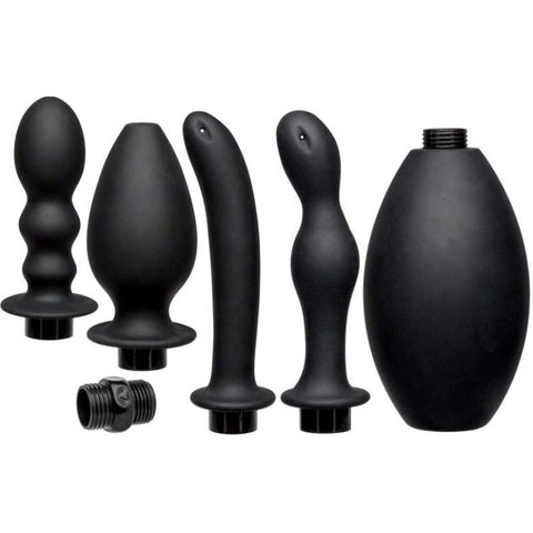 Kink by Doc Johnson FLOW FULL FLUSH Silicone Douche Set