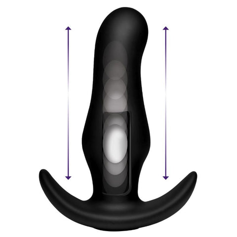 Kinetic Thumping Prostate Anal Plug - Remote Control with 7 Functions