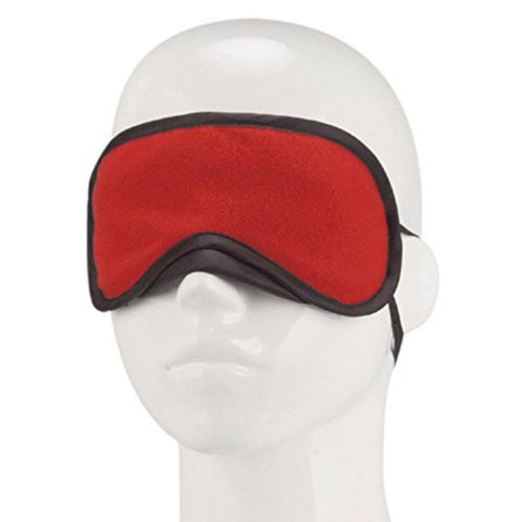 Lux Fetish Blindfold Peek-A-Boo Love Mask - Red