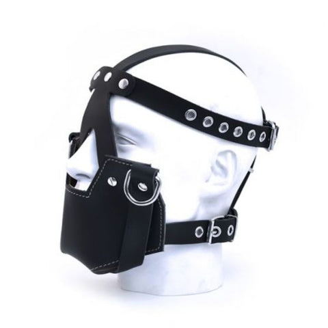 Mr. B Leather Muzzle Mask with D-Rings