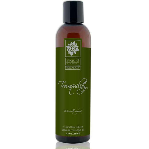 Sliquid Organics Balance Massage Oil Tranquility (Coconut Lime)