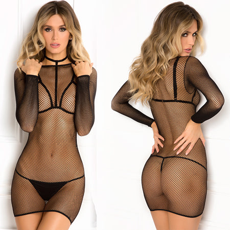 High Alert Fishnet Dress Harness Set - M/L