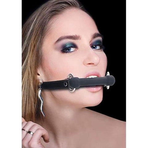 Ouch! Bit Silicone Gag - Black